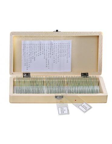Set 50 vetrini preparati microscopia