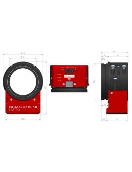 """ESATTO 3"""" focheggiatore robotico micrometrico PrimaLuceLab"""