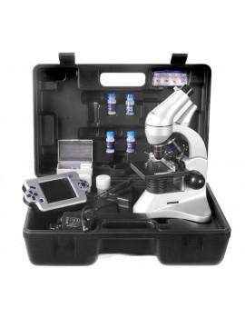 Microscopio biologico con visore LCD